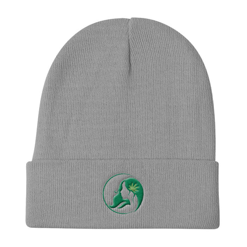 Knit Beanie w/ Dark Green Logo