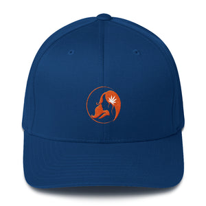 Fitted Twill Cap w/ Orange Logo