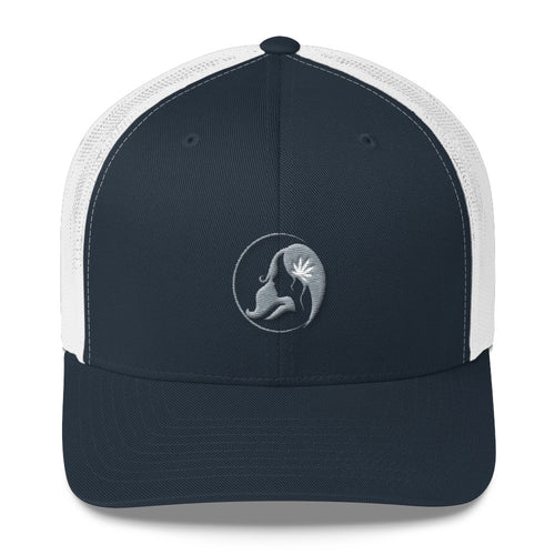 Retro Trucker Cap w/ Gray Logo
