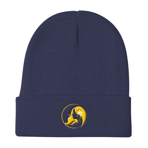 Knit Beanie w/ Yellow Logo