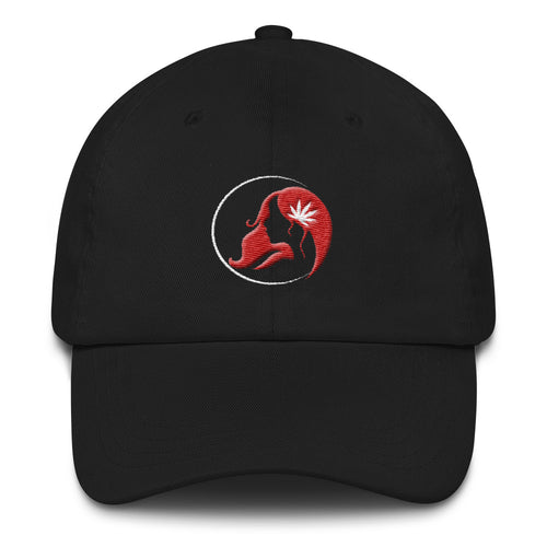 Dad hat w/ White/Red Logo
