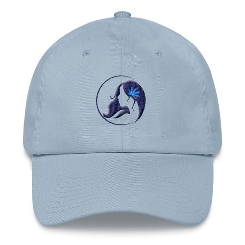 Dad hat w/ Dark Blue Logo