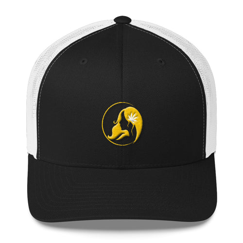 Retro Trucker Cap w/ Yellow Logo