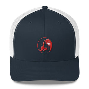 Retro Trucker Cap w/ Red Logo
