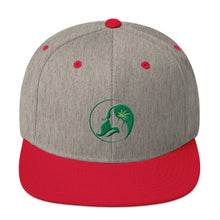 Load image into Gallery viewer, Snapback Hat w/ Dark Green Logo