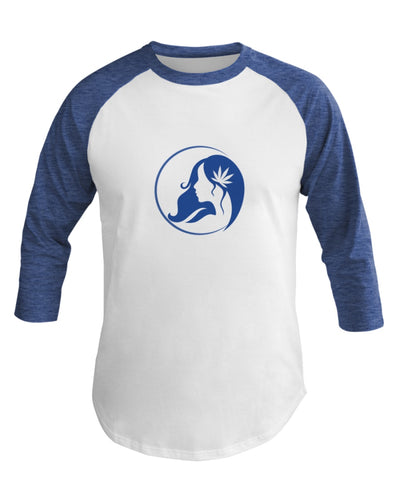 Ms. Mary's 3/4 Sleeve Raglan Shirt (Large Blue Logo)