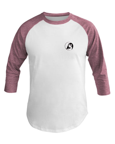 Ms. Mary's 3/4 Sleeve Raglan Shirt (Small Black Logo)