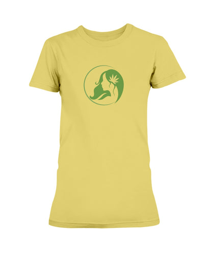 Ms. Mary's Women's T-shirt (Large Green Logo)