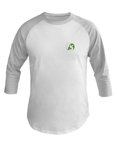 Ms. Mary's 3/4 Sleeve Raglan Shirt (Small Green Logo)