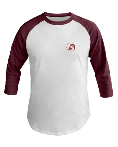 Ms. Mary's 3/4 Sleeve Raglan Shirt (Small Red Logo)