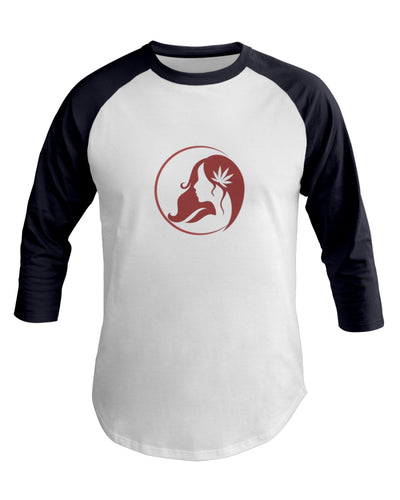 Ms. Mary's 3/4 Sleeve Raglan Shirt (Large Red Logo)