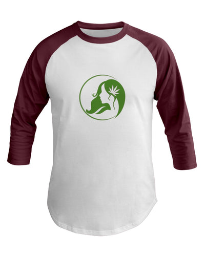 Ms. Mary's 3/4 Sleeve Raglan Shirt (Large Green Logo)