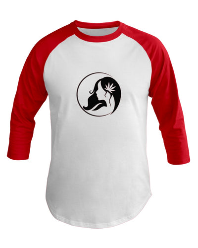 Ms. Mary's 3/4 Sleeve Raglan Shirt (Large Black Logo)