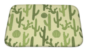 Bath Mat, Pattern With Cactus 1