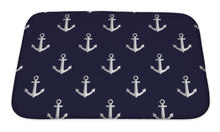 Load image into Gallery viewer, Bath Mat, Sea Style Pattern With Anchors