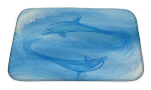 Bath Mat, Two Dolphins
