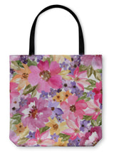 Load image into Gallery viewer, Tote Bag, Beautiful Floral Pattern Watercolor Painting