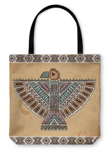 Tote Bag, Tribal Native American Eagle Symbols