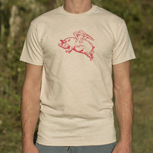 Load image into Gallery viewer, Flying Pig T-Shirt (Mens)