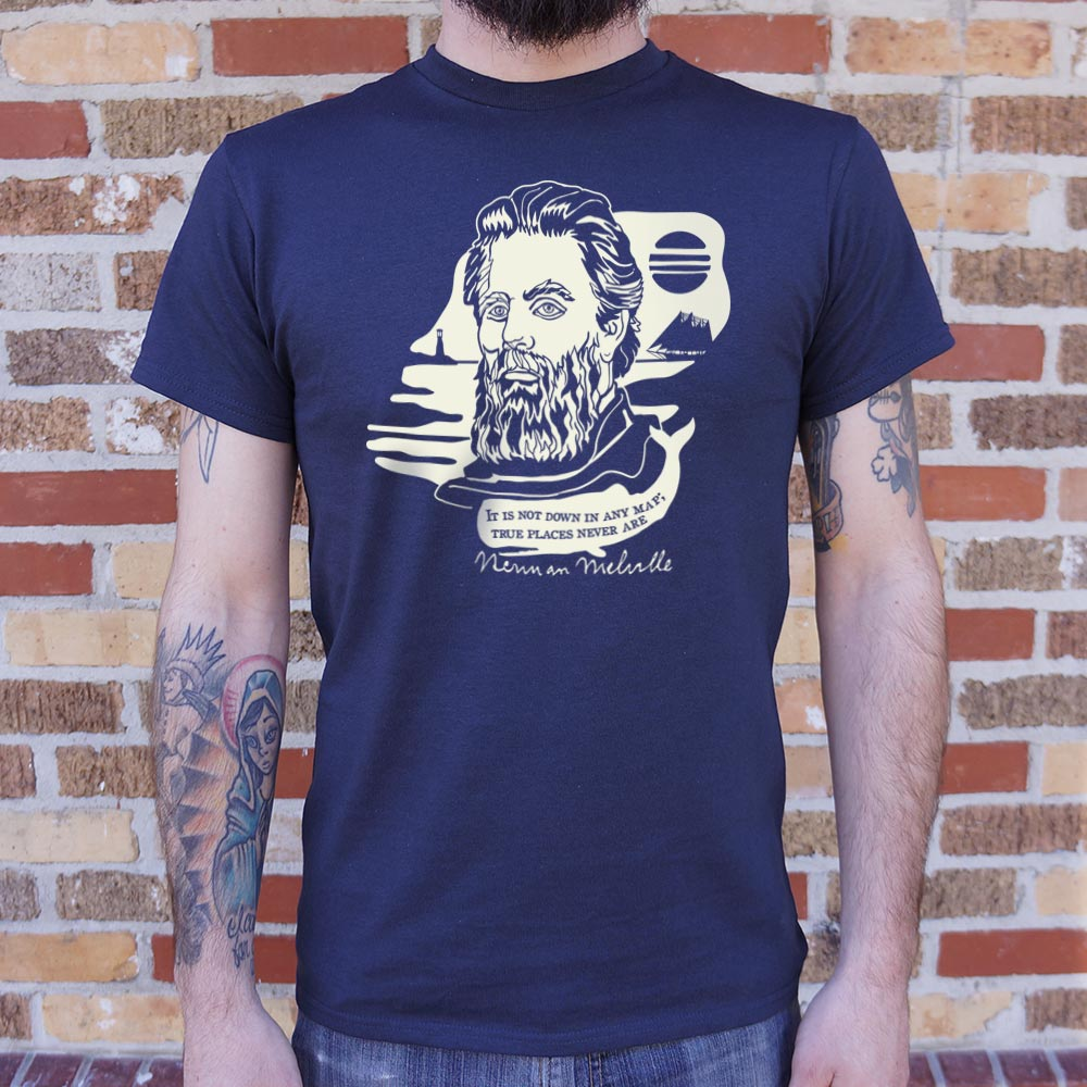 Herman Melville Quote T-Shirt (Mens)