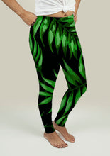 Load image into Gallery viewer, Leggings with Tropical Leaves