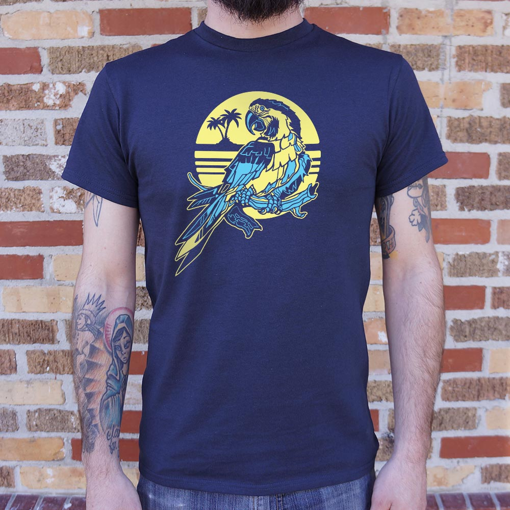 Tropical Macaw Parrot T-Shirt (Mens)
