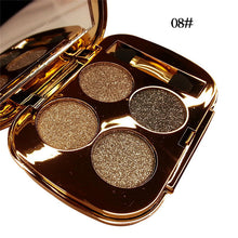 Load image into Gallery viewer, NEW 4 Colors Gold Smoky Glitter Eye Shadow