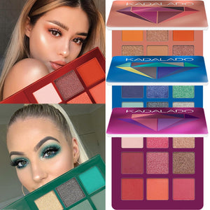 9 Colors Glitter & Matte Eye Shadow Makeup Pallete