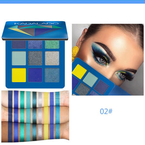 9 Color Glitter Eyeshadow