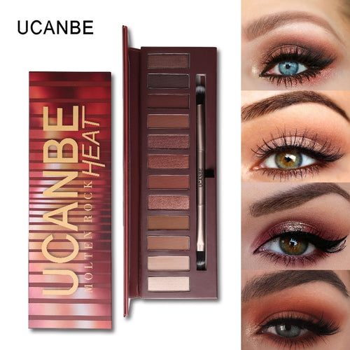 UCANBE Molten Rock Heat Eye Shadow Makeup Palette