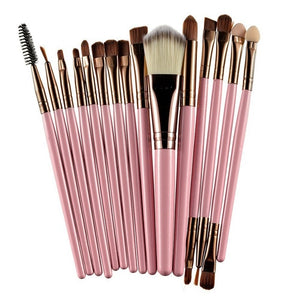 ROSALIND Professional 15 Pc Makeup Brush Set