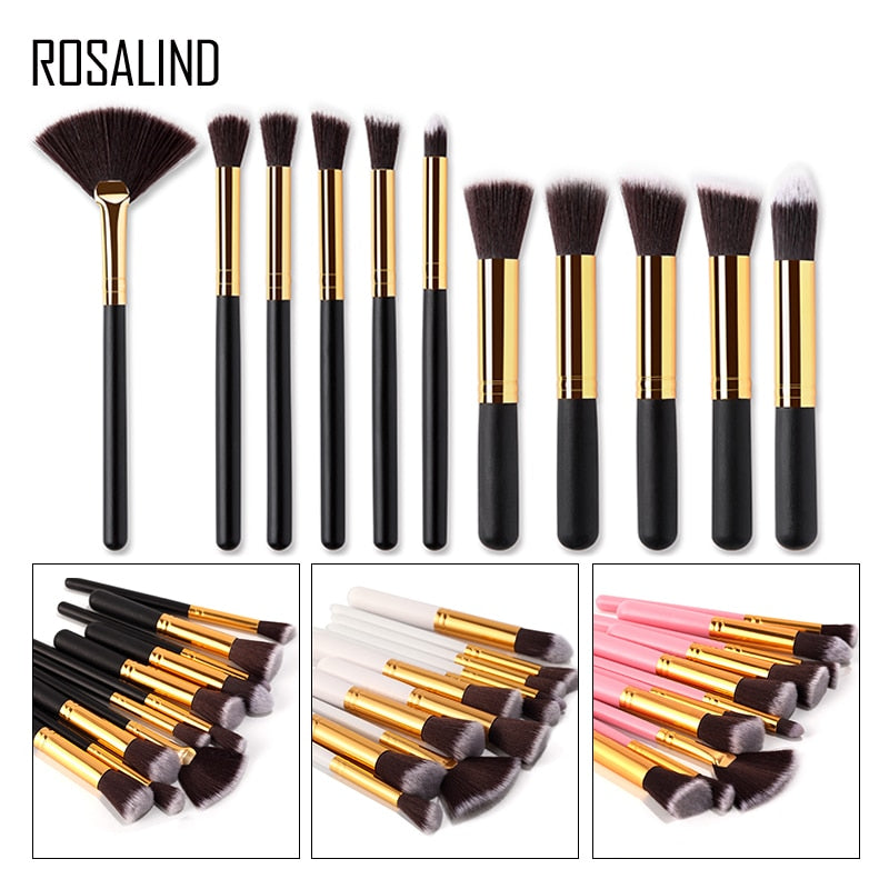 ROSALIND 11 Piece Eye Lips Face Makeup Brush Set