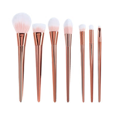 Load image into Gallery viewer, 7Pcs Rose Gold Makeup Brush Set