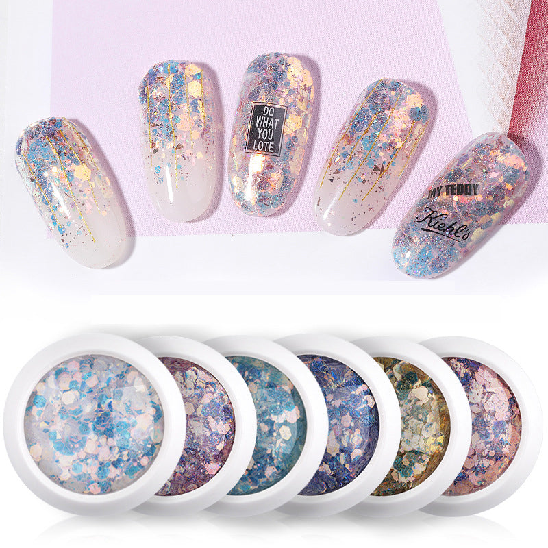 1g Mix Size Nail Art Glitter Powder