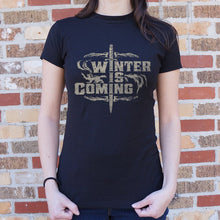 Load image into Gallery viewer, Winter Is Coming T-Shirt (Ladies)