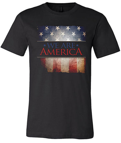 """We Are America"" Men's Black T-shirt"