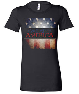 """We Are America"" Women's Black T-shirt"