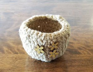 Goldenrod Mini Basket, #218