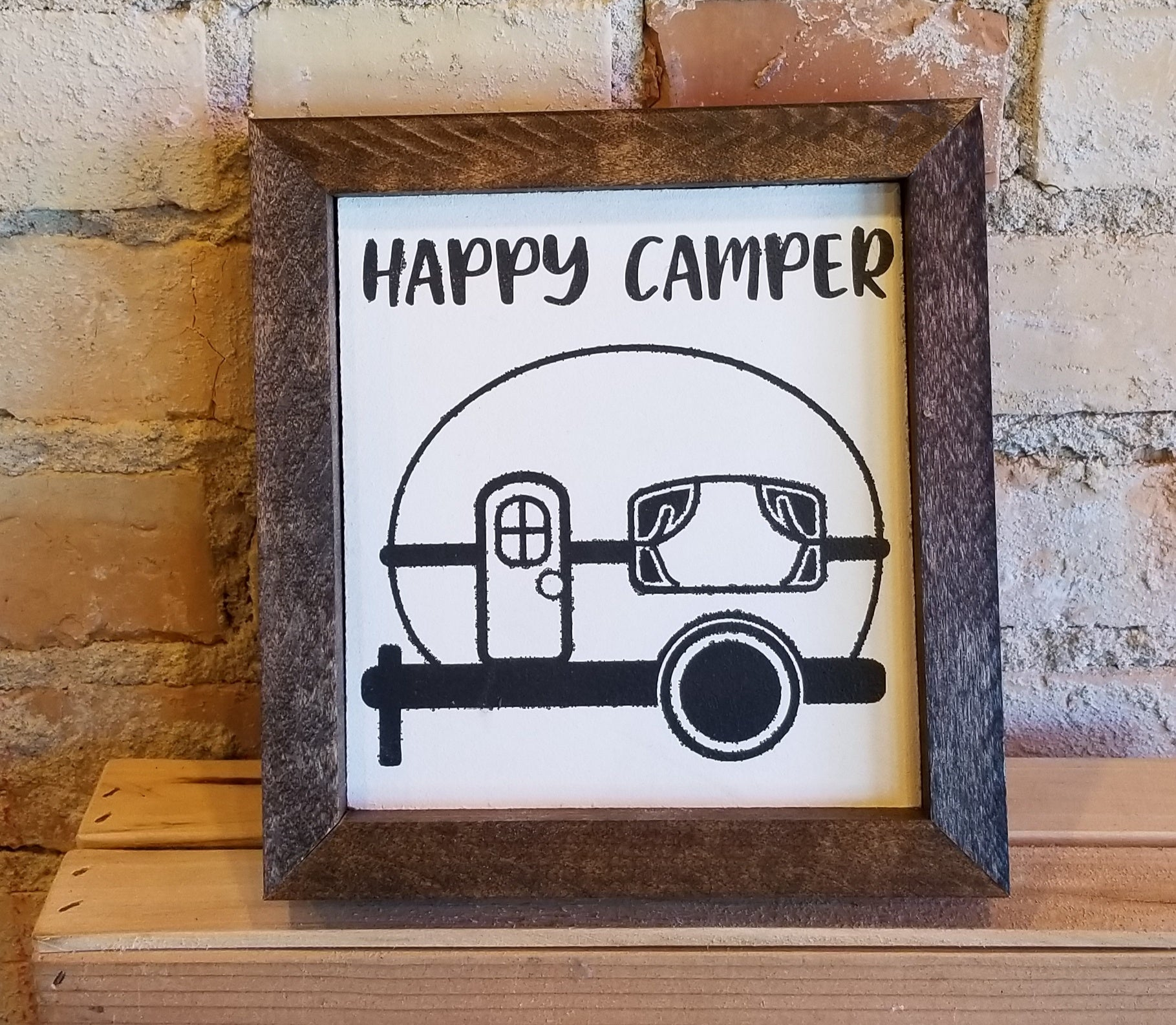 "Wooden ""Happy Camper"" Sign"