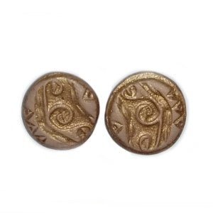 Clay Indian Design Earrings, Design Gold 2