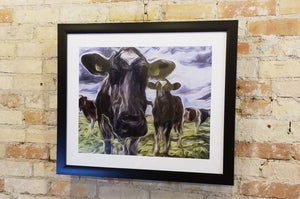 """Curious Cows"", Print by Tom Watson"
