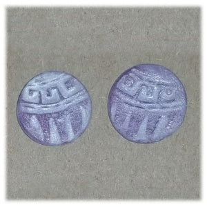 Clay Indian Design Earrings, Design Purple 1