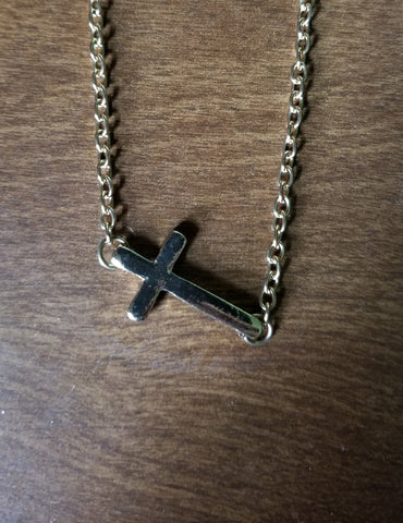 Necklace, Gold Cross