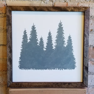 Wooden Trees Sign