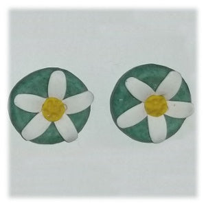 Clay Flower Earrings, Daisy Circle