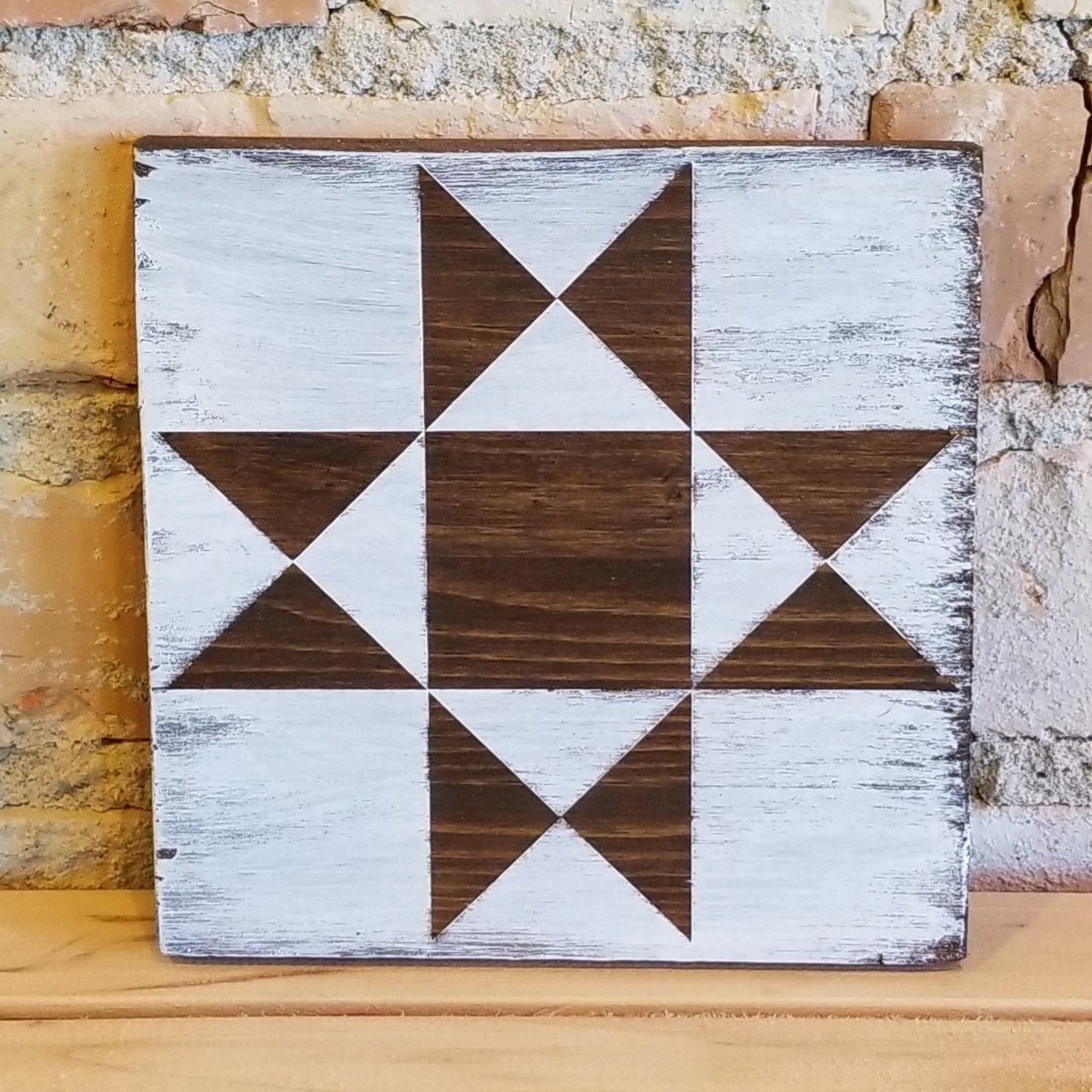 Wooden Quilt Plaque #18