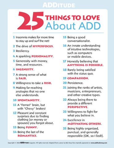 Things to love about ADHD