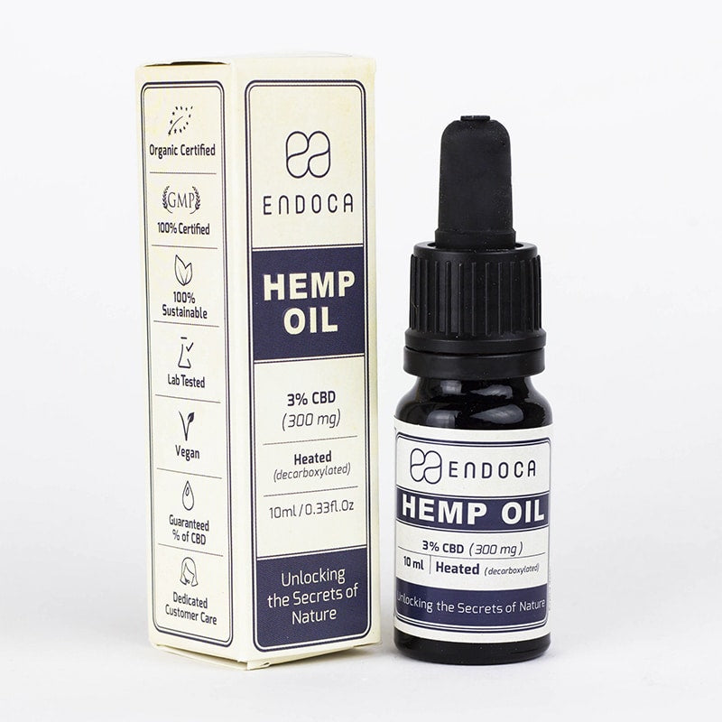 Endoca CBD Hemp Oil Drops (300mg)