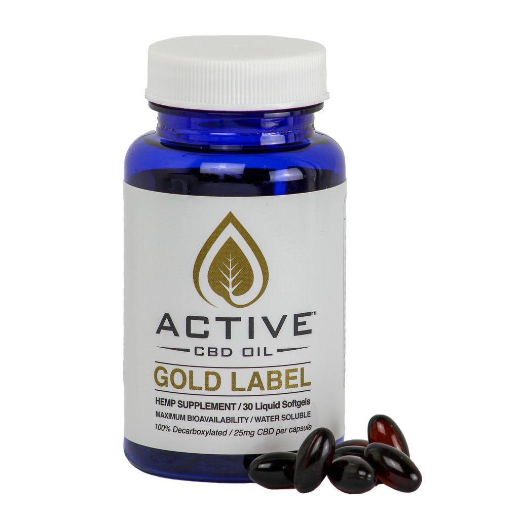 Active CBD Capsules - 750mg/Bottle