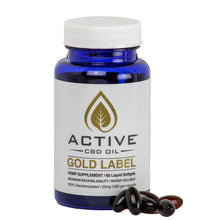 Load image into Gallery viewer, Active CBD Capsules - 750mg/Bottle